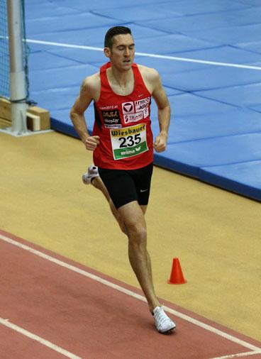 Andreas Vojta wird zum 7. Mal in Folge Hallen-Staatsmeister über 1500m