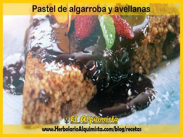 Pastel de algarrobas y avellanas Blog del Alquimista Arrecife Lanzarote