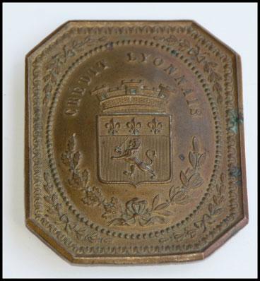 plaque de commissionnaire crédit lyonnais plaque métier