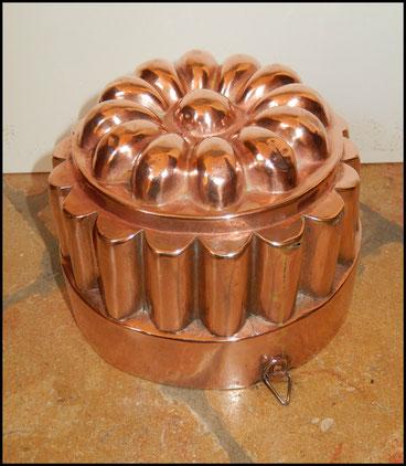 moules en cuivre anciens bavarois sorbet baba