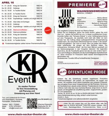 Musicalproduktionen im Rhein-Neckar-Theater - KR-Event
