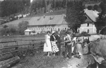 die ersten Sommergäste beim Jakobbauer