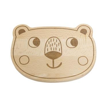 Holz Frühstücksbrettchen Tipikids Bär Julica Design - zuckerfrei | Kids Concept Store