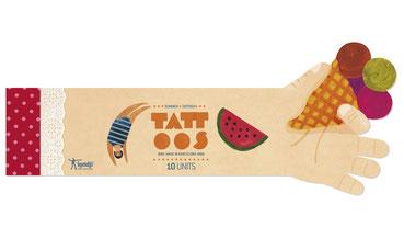 Londji Kinder-Tattoos Sommer summer Eiscreme - zuckerfrei  | Kids Concept Store