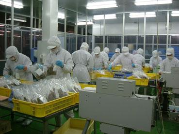 オーニシの製品の包装室