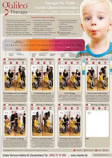 Vibrationshantel Galileo Mano Med 30 Übungsempfehlungen Kindertherapie