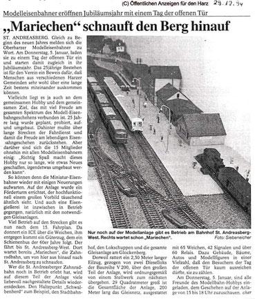 """Der Modellbahnverein um die Zahnradbahn """"Mariechen""""!"""