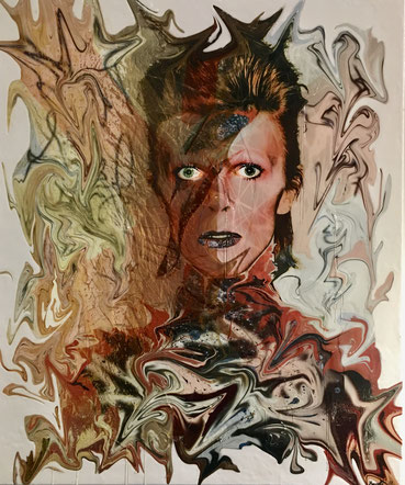 Marnali: surreal Bowie, 100cm x 120cm