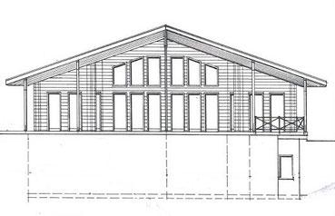 Hanghaus als Wohnhaus mit fächerartigem Grundriss