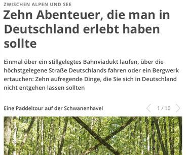 Geo Zeitschrift, Schwanenhavel, Schwaanhavel, Paddeln
