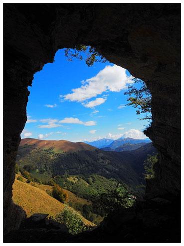 Riparo Sotto Nadigh: panorama verso oriente