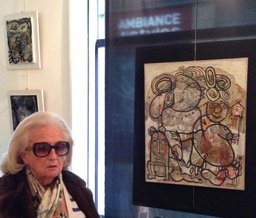 Inauguration de l'exposition 2015 par Madame CHIRAC