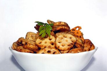 おいしそうなレンコン料理の例 (出典: フリー百科事典『ウィキペディア(Wikipedia)』)
