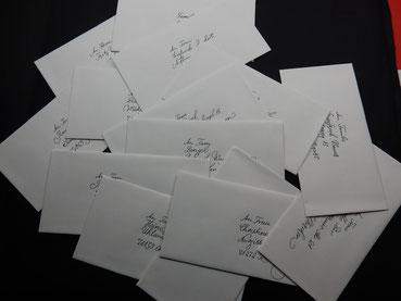 Kuverts Kalligrafie