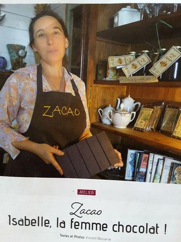 zacao la chocolatière Isabelle Zliechovec