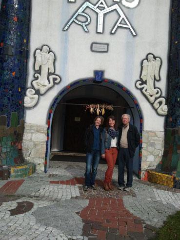 Nach einer kurzen Besichtigung der Barbarakirche in Bärnbach...