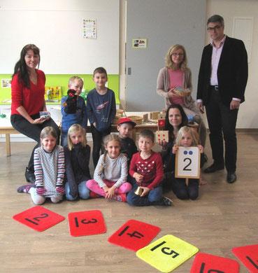 """Workshop: """"Zahlenland 1"""" mit Roswitha Hafen im Kindergarten Lieboch, finanziert von der Firma ACE Lieboch."""