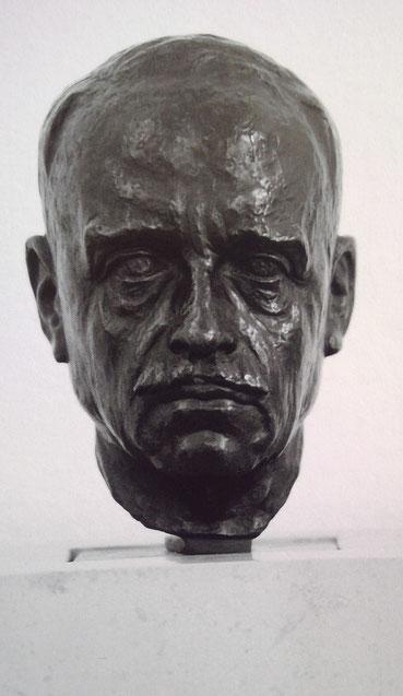 Bronze Büste von Aby Warburg