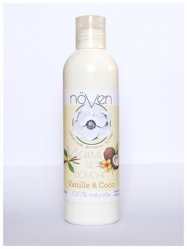crème douche vanille coco artisanal cosmétique