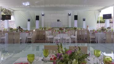 Montaje de dj para bodas PREMIERE en Hacienda San Fernando Tlalpan Ciudad de México