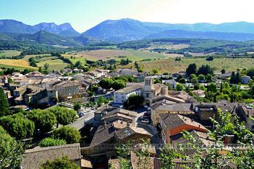 Vue sur Bourdeaux - Drôme Provençale