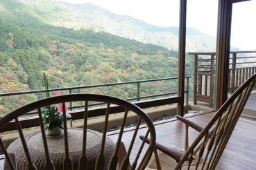 箱根吟遊という旅館に泊まりました。とっても良い景色でした