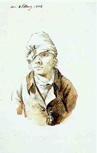 Автопортрет в шапке. 1802