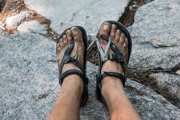 Battered pair of Lunas after extensive hiking in South Korea