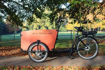 Baboe Big bakfiets met ombouwset Middenmotor van Fiets Ombouwcentrum Nederland