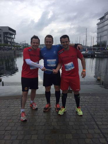 Runnerlicious-Halbmarathonstaffel: Micha, Siggi & Wladi