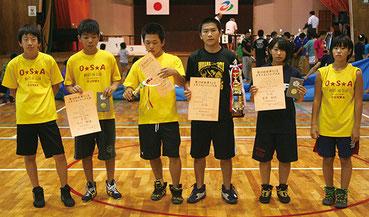 中学生団体戦2位のOSAレスリング部