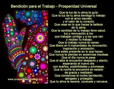 BENDICIÓN PARA EL TRABAJO - PROSPERIDAD UNIVERSAL
