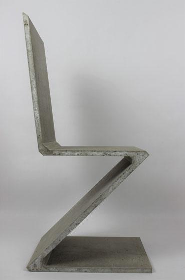 Beton Objekte Beck, Design, Skulptur, Betonstuhl, Stuhl, Brutalismus, Funktionalismus