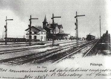 +- 1905 - Péitenger Gare