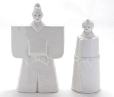 九谷焼 雛人形 お雛様 初節句 ホワイト雛人形 裏書き