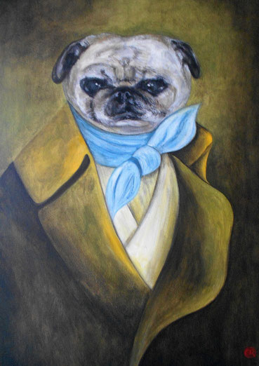 Peinture animalière sur toile