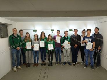 Urkundenübergabe Jugendfernwettkampf Schülerrunde, Gaudamenrunde und beste RWK Schützen 2016-2017