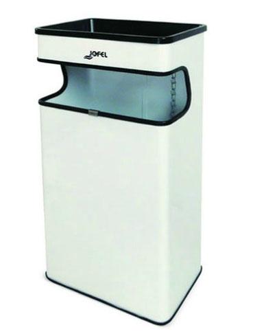 Basurero rectangular BI70400 Color: Blanco Dimensiones en milímetros: Alto: 650 Largo: 320 Ancho: 182 Capacidad: 27 L / 7 gl Contenido por caja: 4 piezas