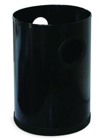 Basurero cilíndrico pequeño BI70100 Blanco BI7010N Negro Color: Blanco y Negro Dimensiones en milímetros: Diámetro: 210 Alto: 300 Capacidad: 10.25 L / 27 gl Contenido por caja: 8 piezas