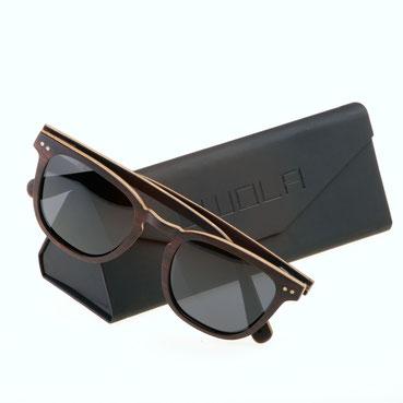 Holz Sonnenbrille Helio Ebenholz Teak