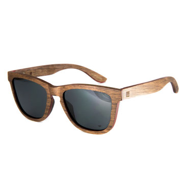 AERO Holz Sonnenbrille Nussholz Gruen