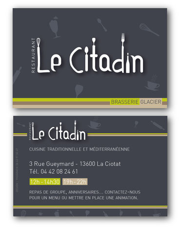 Carte de visite restaurant La Ciotat - PACA