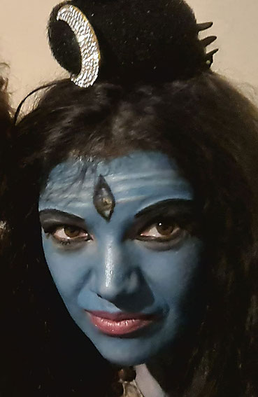 Indische Tänzerin Bhakti Devi - Tempeltanz Bharatanatyam, Foto: G.G.