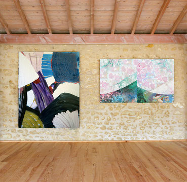 Les œuvres des deux artistes dialoguent parfaitement ensemble