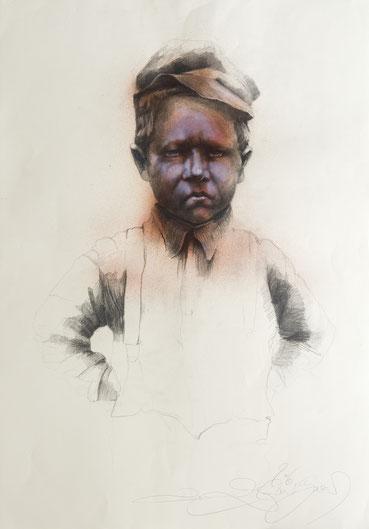 Shoa Junge Zeichnung