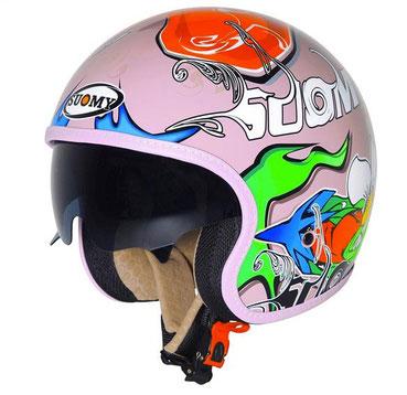 Suomy Jet 70's Pink Drake Helmet