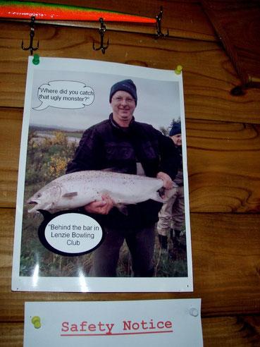 So gesehen in einer Fischerhütte am schottischen Fluss Tay