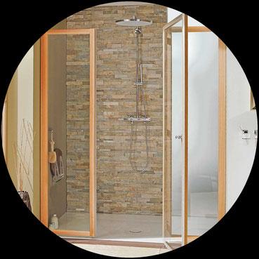Dusche aus Holz speziell für den Nassbereich_WPS