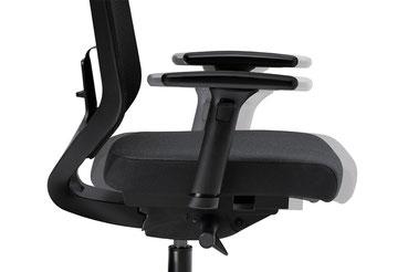 Entrylevel Chair, Drehstuhl, Preiseinstieg, Netz, Design, mesh backrest, Seitenansicht, Phasenbild, Schiebesitz