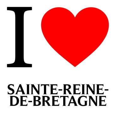 j'aime sainte reine de bretagne écrit avec un coeur rouge